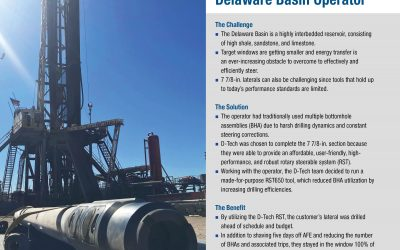 D-Tech RST Eliminates Two BHAs and Five Drilling Days