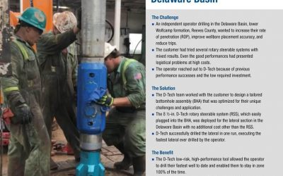 D-Tech Helps Drill Fastest Lateral in Delaware Basin